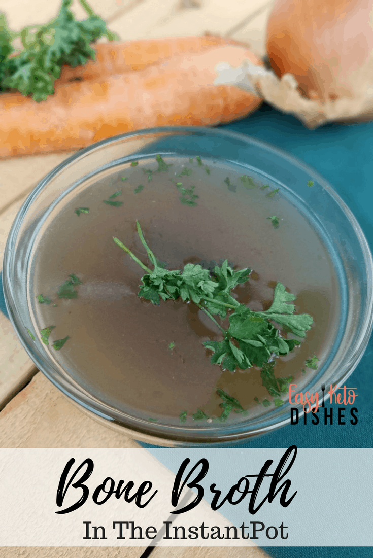 Delicious, gut healing bone broth can be yours in just under 2 hours! Find out how the instant pot will help you keep up with demand for bone broth on your keto diet! www.easyketodishes.com