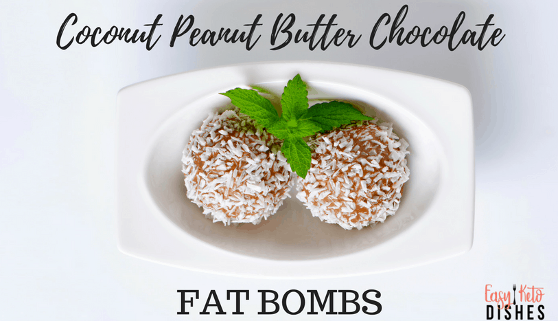 The ingredients in our coconut peanut butter chocolate fat bombs are a perfect combination of flavor, and sweetness. Get the easy to make recipe here! www.easyketodishes.com