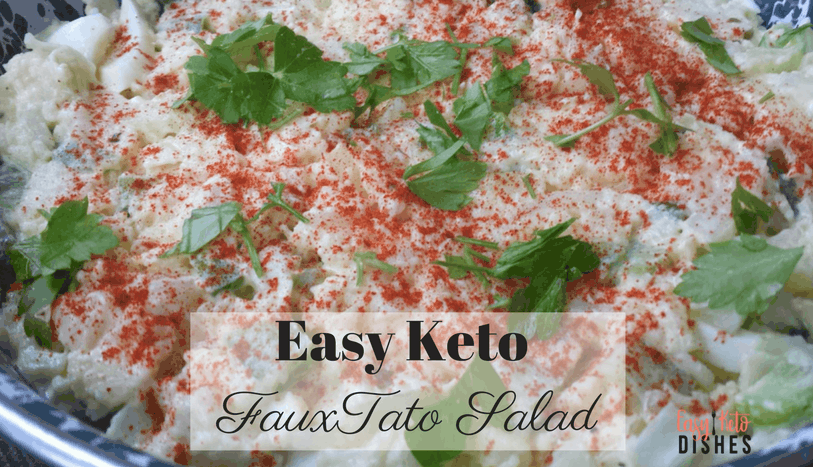 Potato Salad has been a signature side dish at almost every BBQ, Potluck and Family Holiday since the beginning. Now that you're eating low carb, why should that change? Your family and friends will never notice the difference with amazing Keto Potato Salad recipe. www.easyketodishes.com