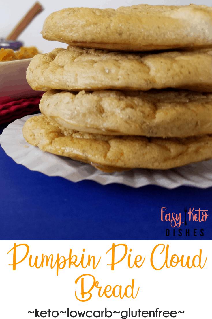pumpkin pie cloud bread on plate