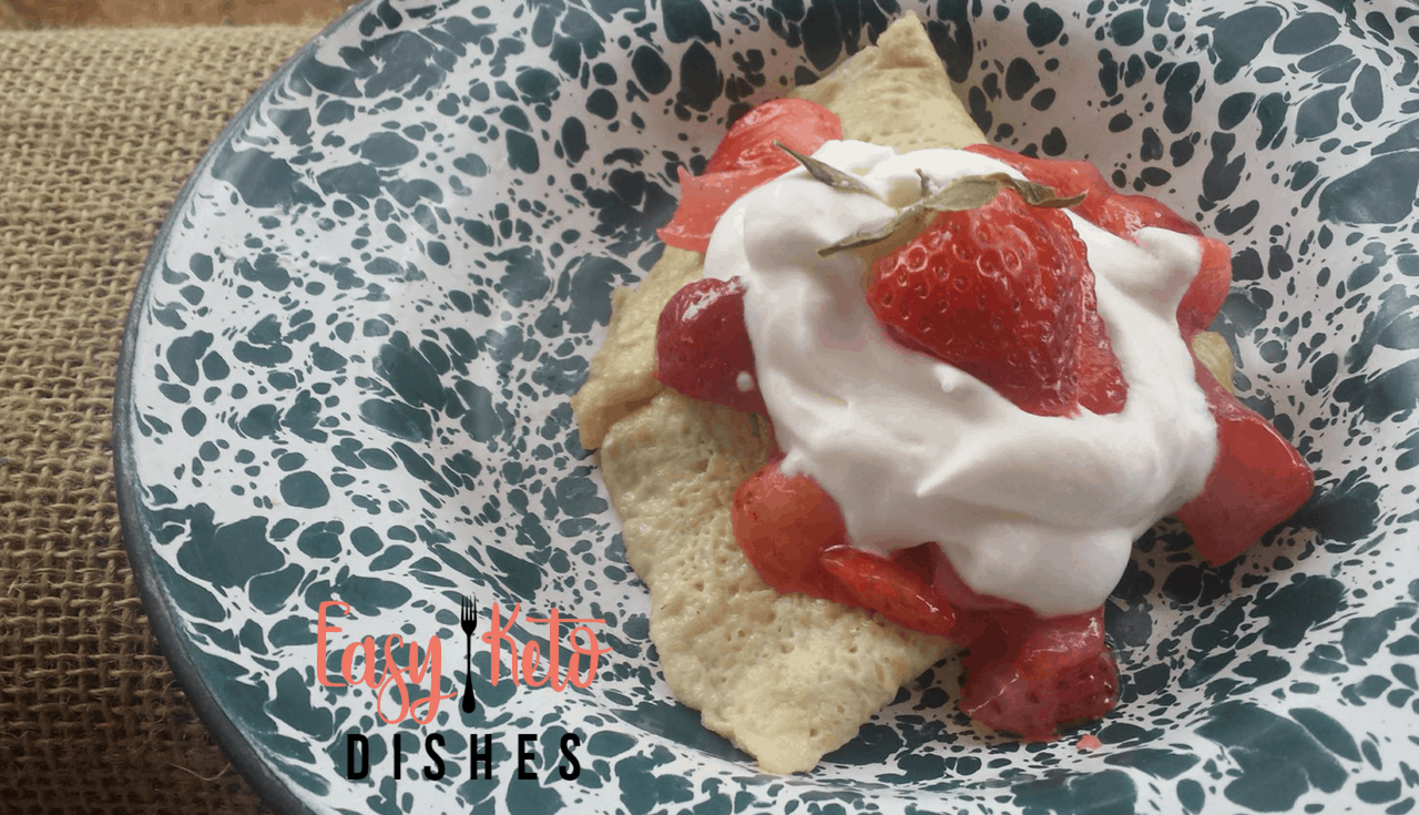 This recipe is exactly why keto is called a lifestyle and not a diet. Do these amazing keto crepes with strawberries look like diet food to you? It just goes to prove you can have your crepes and eat them too!