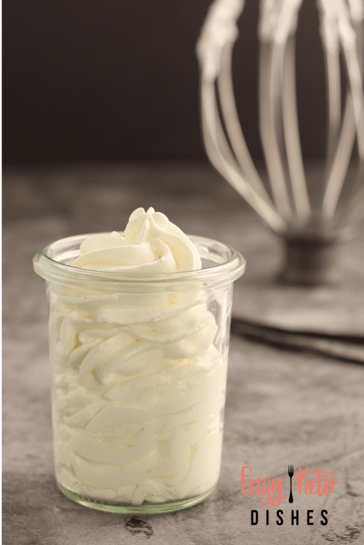 vanilla bean whipped cream in a jar