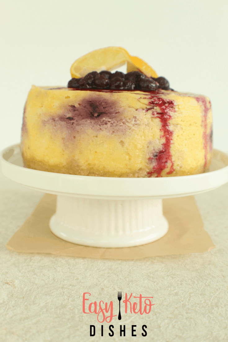 Instant Pot Lemon Blueberry Cheesecake