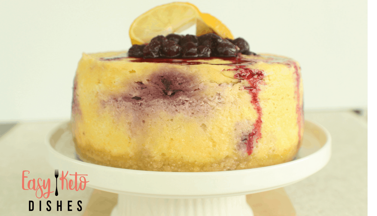 Rich, creamy and full of lemony flavor, this Instant Pot lemon blueberry cheesecake will have your tastebuds singing! Keep your fat, protein, and carbs all in a good balance, too!