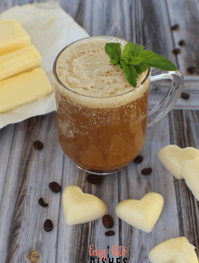 Rich and creamy bulletproof coffee is a great way to get going in the morning. Add these easy to make ahead buttermint coffee drops so you can grab your coffee and go!