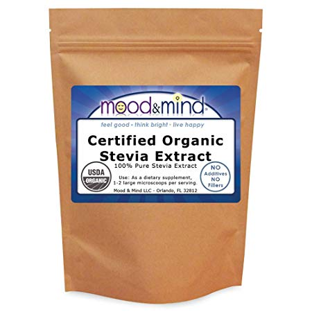 Organic Stevia Extract Powder No Fillers 4 oz (112g)