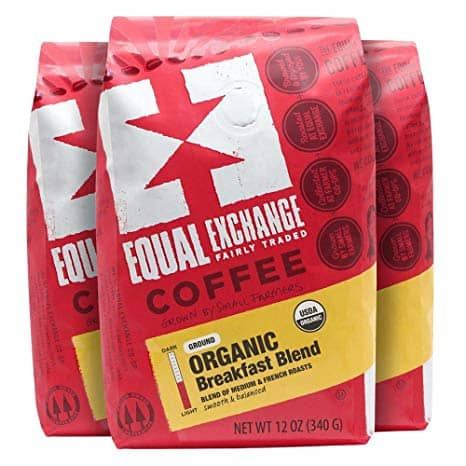 Equal Exchange Organic Ground Coffee, Breakfast Blend, 12-Ounce Bag
