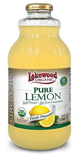 Lakewood Organic Pure Lemon Juice -- 32 fl oz