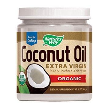 Nature's Way Organic Extra Virgin Coconut Oil- Pure, Cold-pressed, Organic, Non-GMO, Gluten-free- 32 Ounce