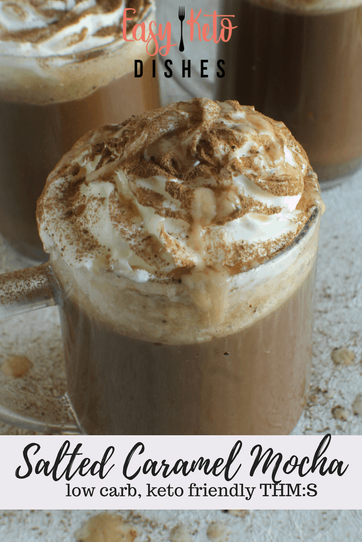 When on keto, those fancy coffee drinks are out. They have loads of sugar and other ingredients you don't want. But, you can STILL get your salted caramel mocha on with this easy keto copycat recipe! #diy #jerf #eatclean#foodie #foodlovers #frenchmanapproved#healthylifestyle #spices #foodporn#fooddiary #foodblogger #instantpot#pressurecooking #instantfood#realfoodrealquick