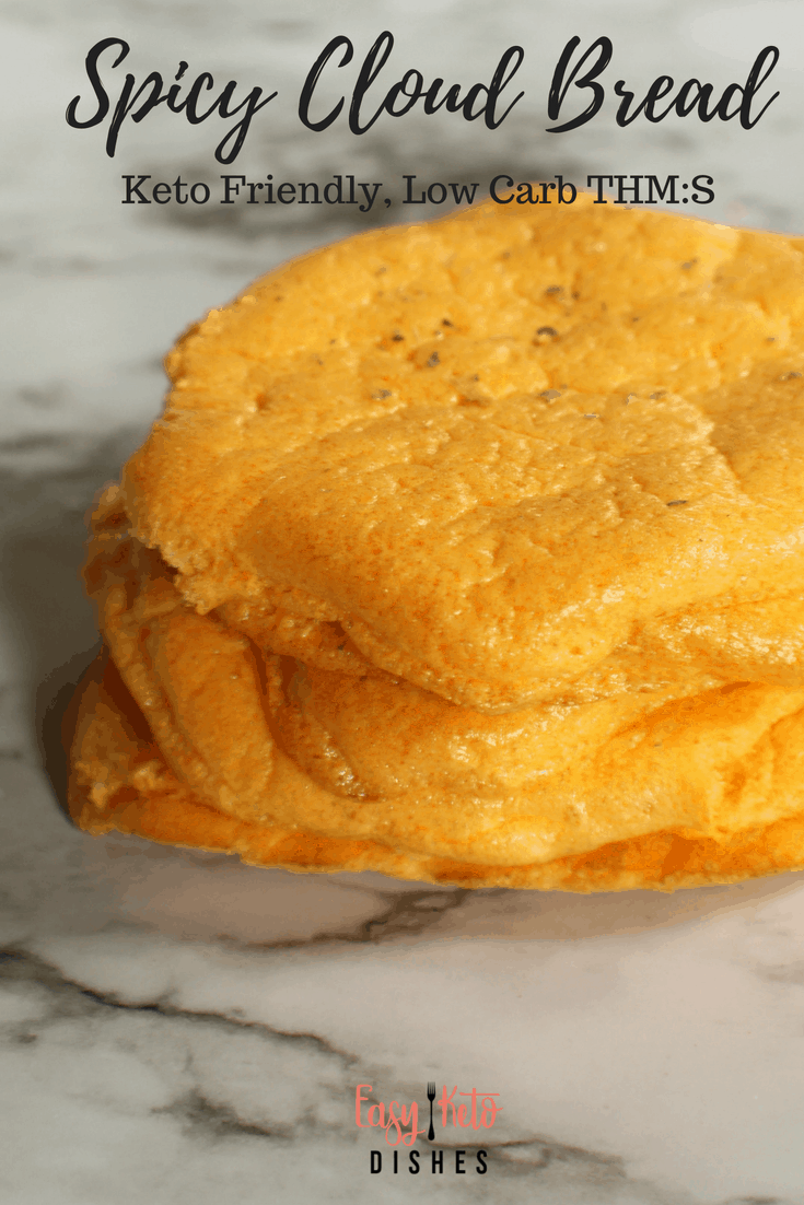 Perfect for burgers, sandwiches, or even as tortilla replacements, spicy cloud bread is low carb, keto friendly, light and delicious! Add this special ingredient to kick your cloud bread up a notch!