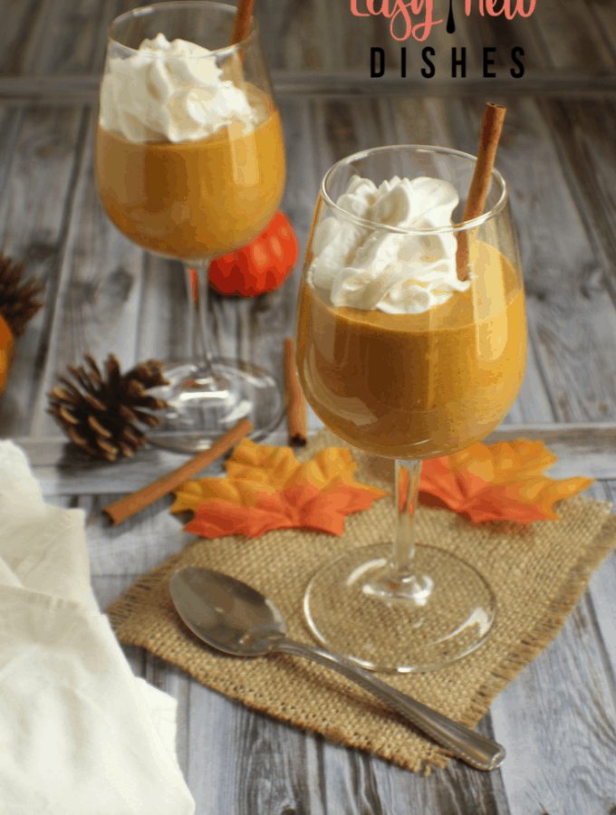 Enjoy all the flavors of fall with this low carb pumpkin cream mousse.