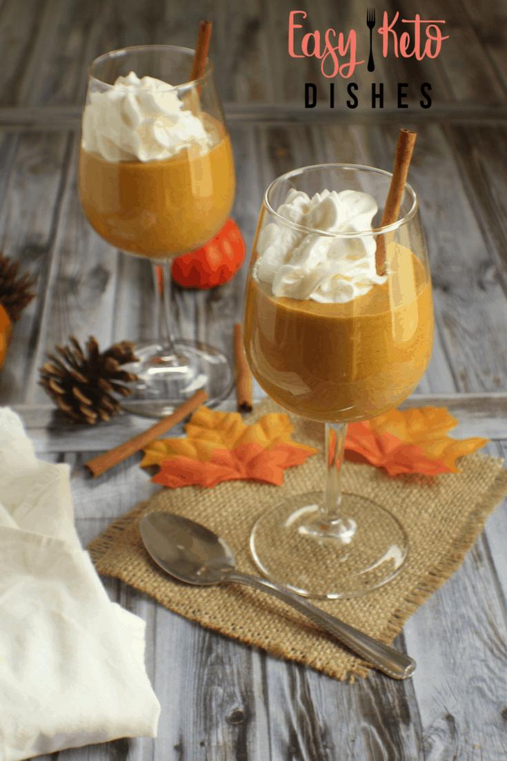 Pumpkin Cream Mousse (low carb, keto friendly, THM:S)