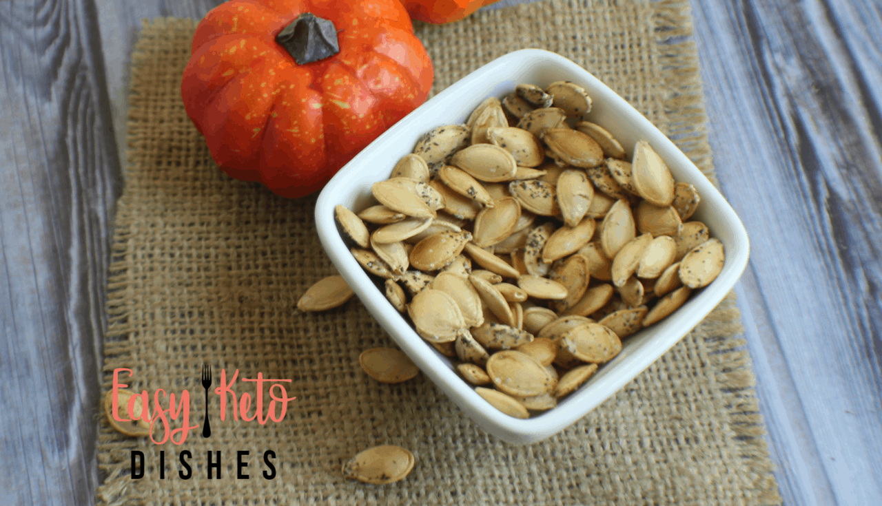What's a guilt free snack that has 3 grams of protein, 3 grams of healthy fat and lots of fiber? Roasted pumpkin seeds!