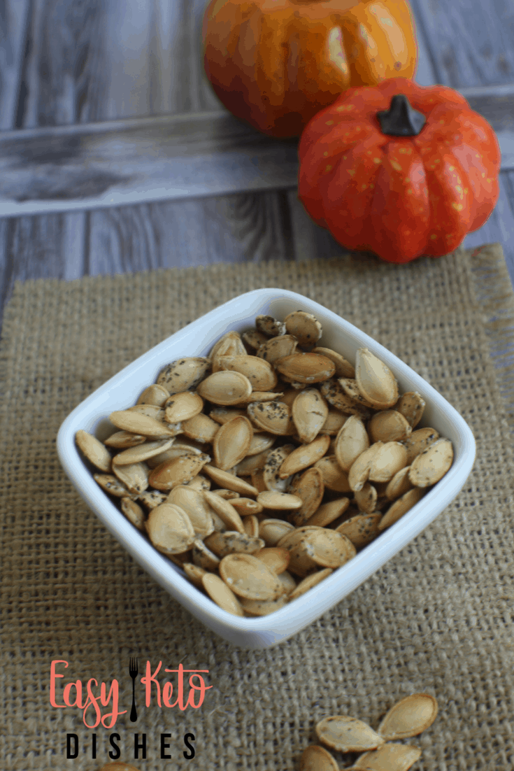 What's a guilt free snack that has 3 grams of protein, 3 grams of healthy fat and lots of fiber? Roasted pumpkin seeds!A light and crispy snack!
