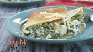 Chicken, Spinach and Cheese Stuffed Crepes