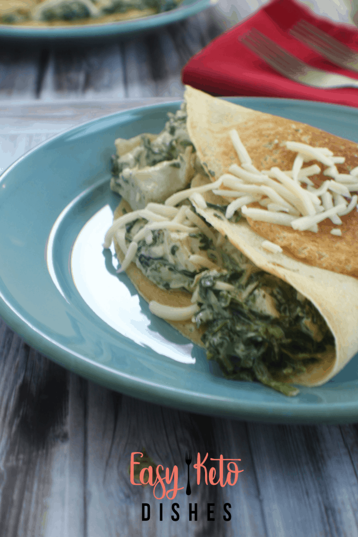 Tender and creamy with real flavor bursting forth, these chicken, spinach and cheese stuffed crepes will show you that low carb and keto dieting doesn't HAVE to be boring!