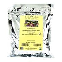 Starwest Botanicals Organic Ground Cayenne Pepper Powder 35K H.U, 1 Pound Bulk Spice