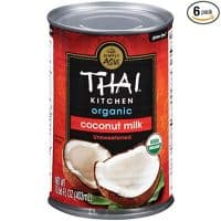 Thai Kitcen Organic Coconut Milk (6 Pack, Paleo Friendly, No Added Sugar) 13.66 fl oz