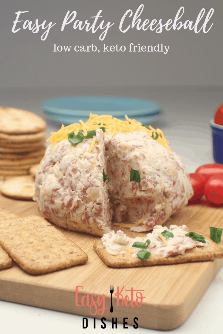 easy party cheeseball low carb, keto friendly