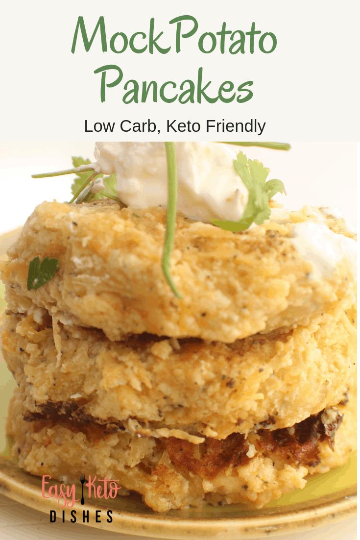 low carb mock potato pancakes