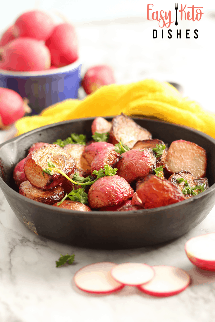keto pan roasted radishes