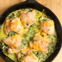 Cheesy Spinach Stuffed Chicken Thighs