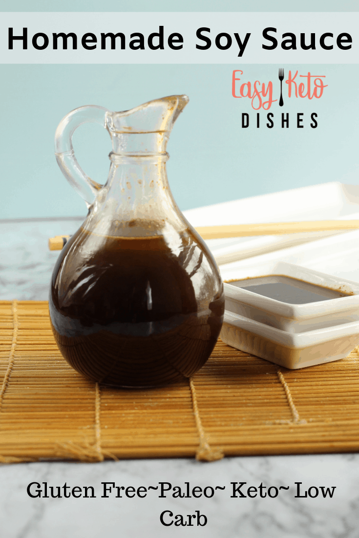 low carb, gluten free, paleo, keto homemade soy sauce