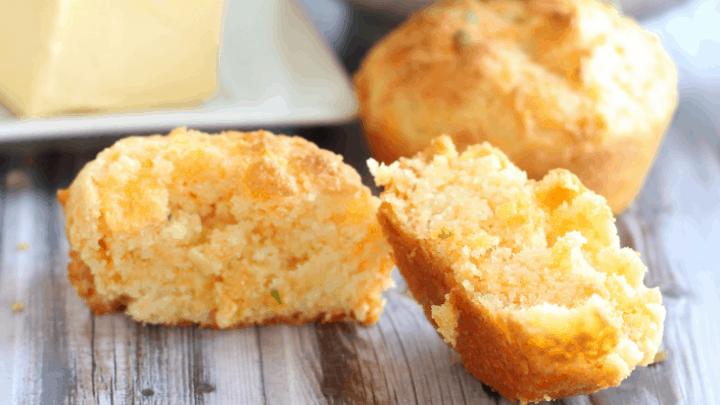 Garlic Cheddar Biscuits (keto, low carb)