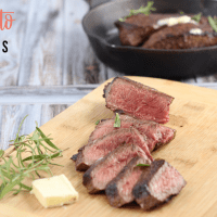 Perfect Sirloin Steak With Rosemary And Butter