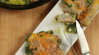 Cheesy Spinach Stuffed Chicken Thighs