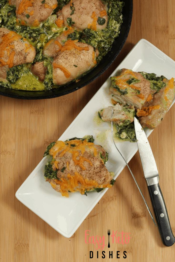 cheesy spinach stuffed chicken