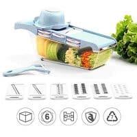 6 in 1 Multi-function Vegetable Grater Cutter, Carrot Slicer Shredder Cutter Potato Mud Chopper Kitchen Gadget, Ultimate Kitchen Slicing Tool