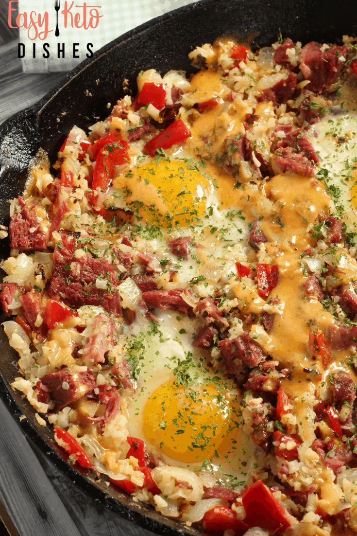 low carb corned beef hash skillet