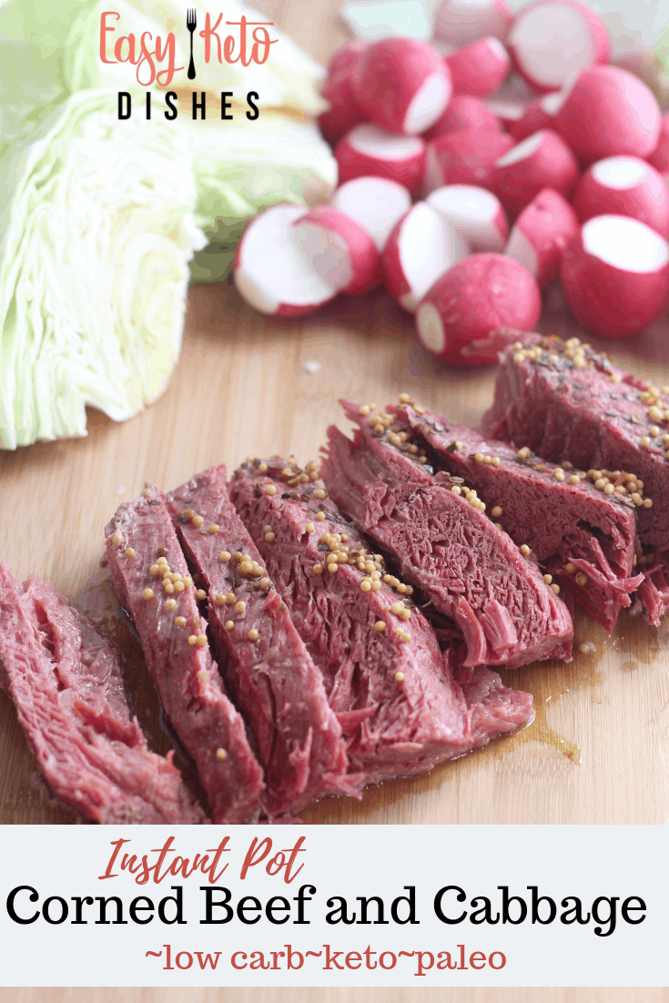 corned beef and cabbage with radishes