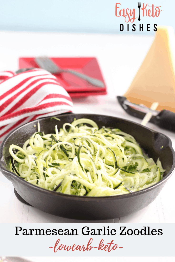 parmesean garlic zoodles with zucchini