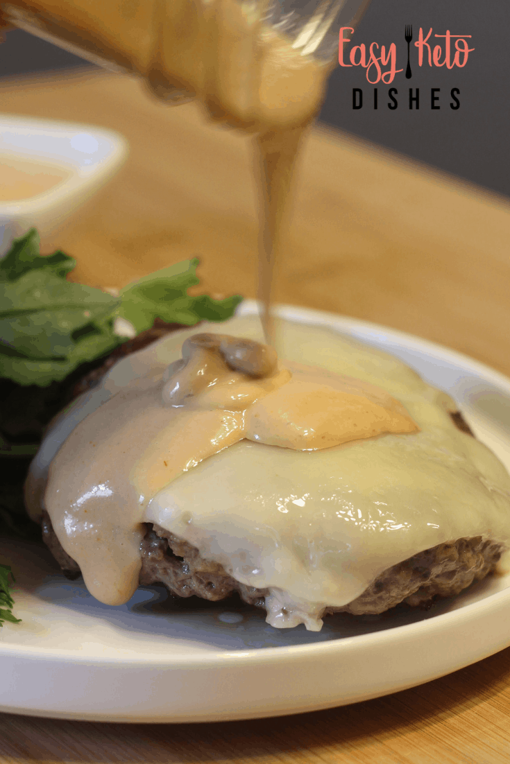 russian dressing on a burger