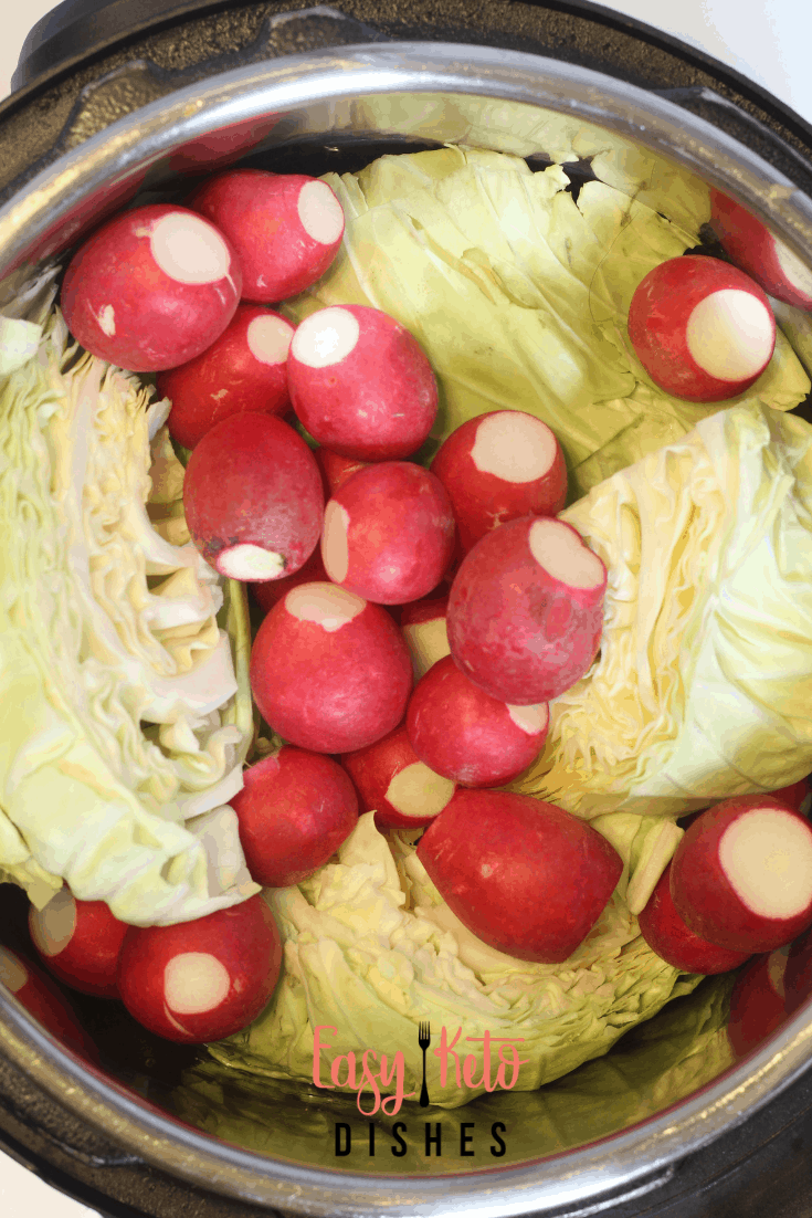 radishes and cabbage in the instant pot