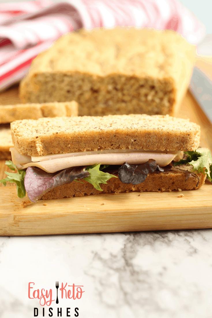 turkey sandwich on keto bread