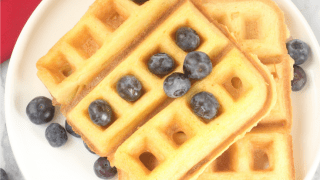 Keto Waffles With Almond Flour (low carb, keto, dairy free, paleo)