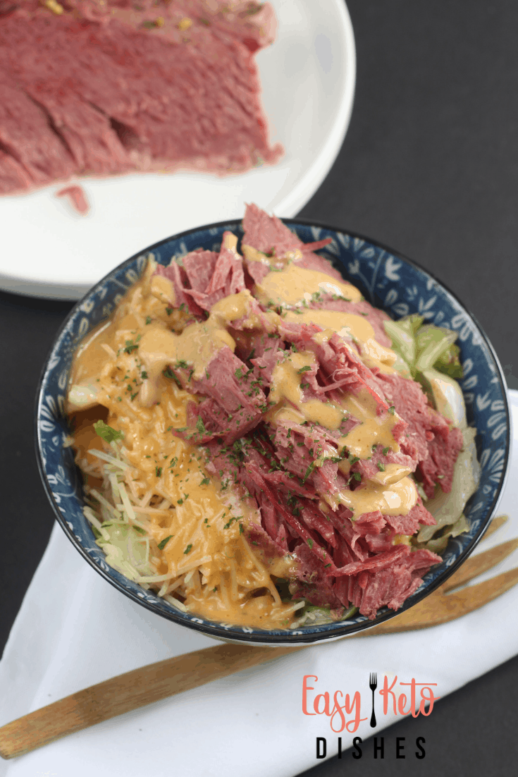 keto friendly ruben in a bowl
