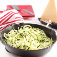 Easy Garlic Parmesean Zoodles (low carb, keto)