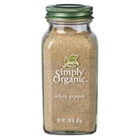 Simply Organic Pepper, White, 2.86 Ounce