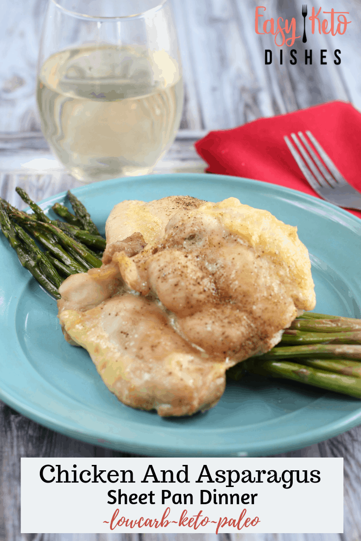 chicken thighs and asparagus sheet pan dinner