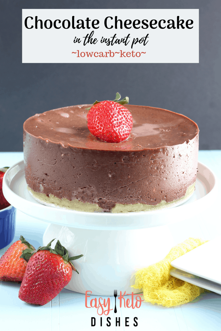 sugar free, low carb chocolate cheesecake