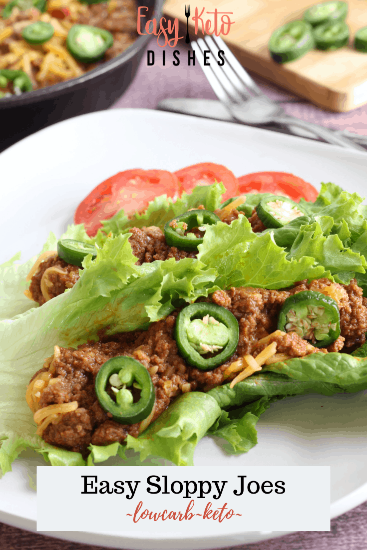 low carb sloppy joe on lettuce wrap