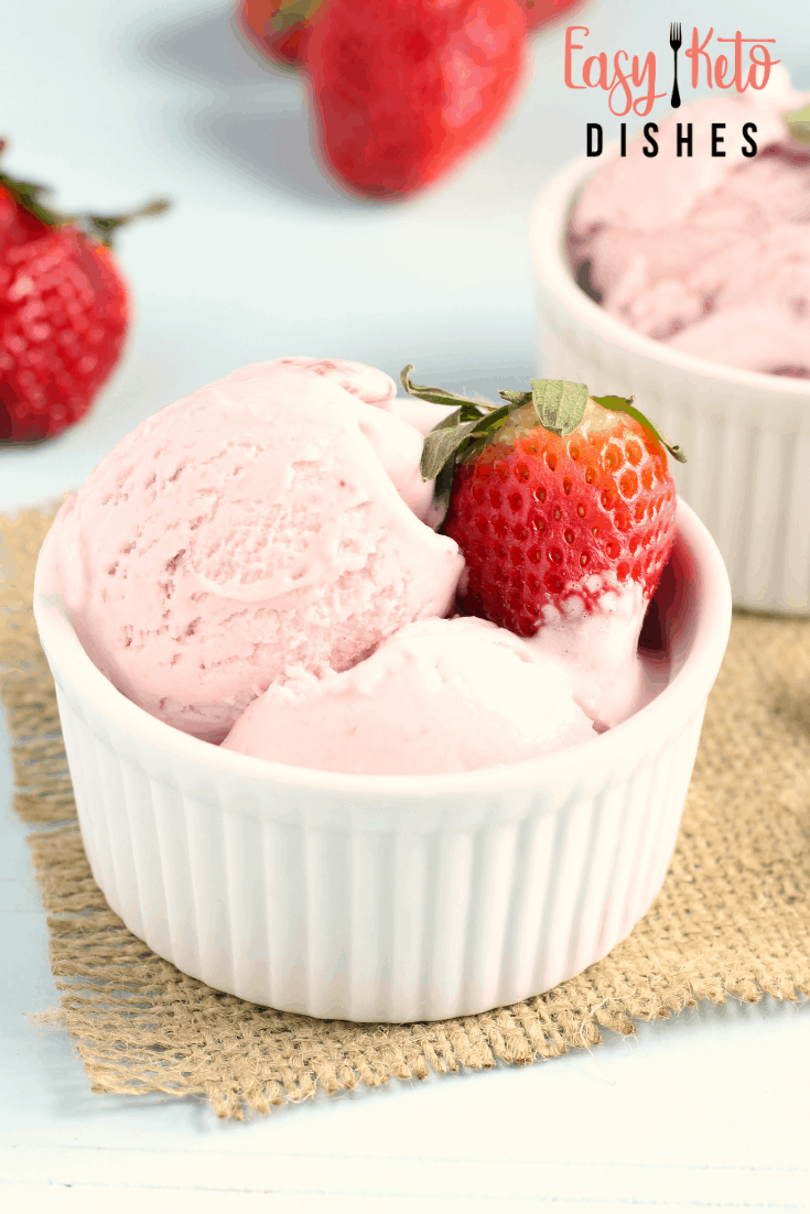 Dairy Free Coconut Strawberry Ice Cream