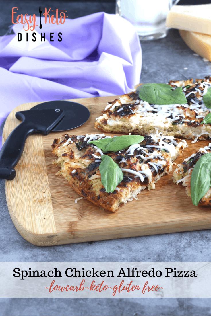 chicken spinach alfredo pizza