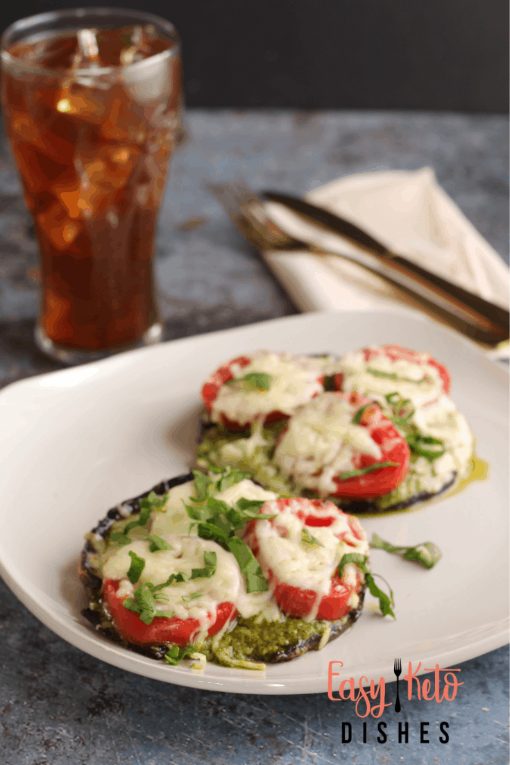 caprese stuffed mushrooms