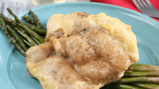 Sheet Pan Dinner-Chicken Thighs With Asparagus